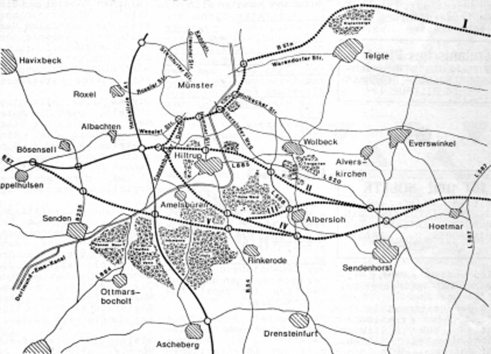 Straßenplanung einer Autobahn 43 (1979)