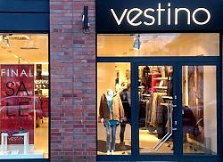 Der nächste Einzelhändler verlässt die Hiltruper Marktallee: Final sale bei vestino (23.1.2018; Foto: Klare)