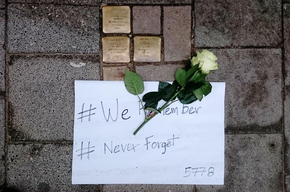 We Remember, Never Forget (25.1.2018, Münster Aegidiistraße; Foto: Klare)