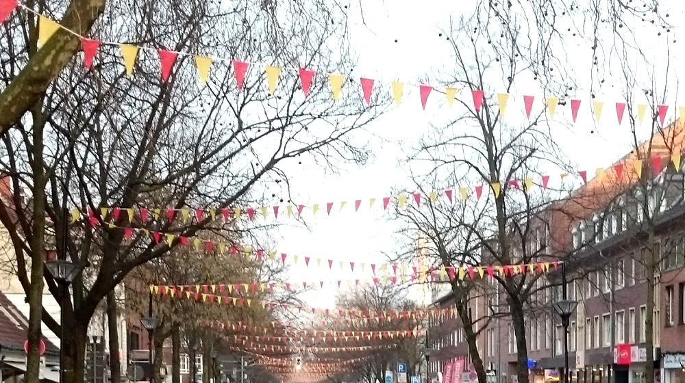 Die Marktallee, Hiltrups Karnevalsmeile - auf jeden Fall länger als der Prinzipalmarkt... (26.1.2018; Foto: Klare)