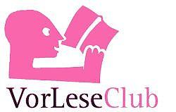 Logo des VorLeseClub Hiltrup (karminrot)
