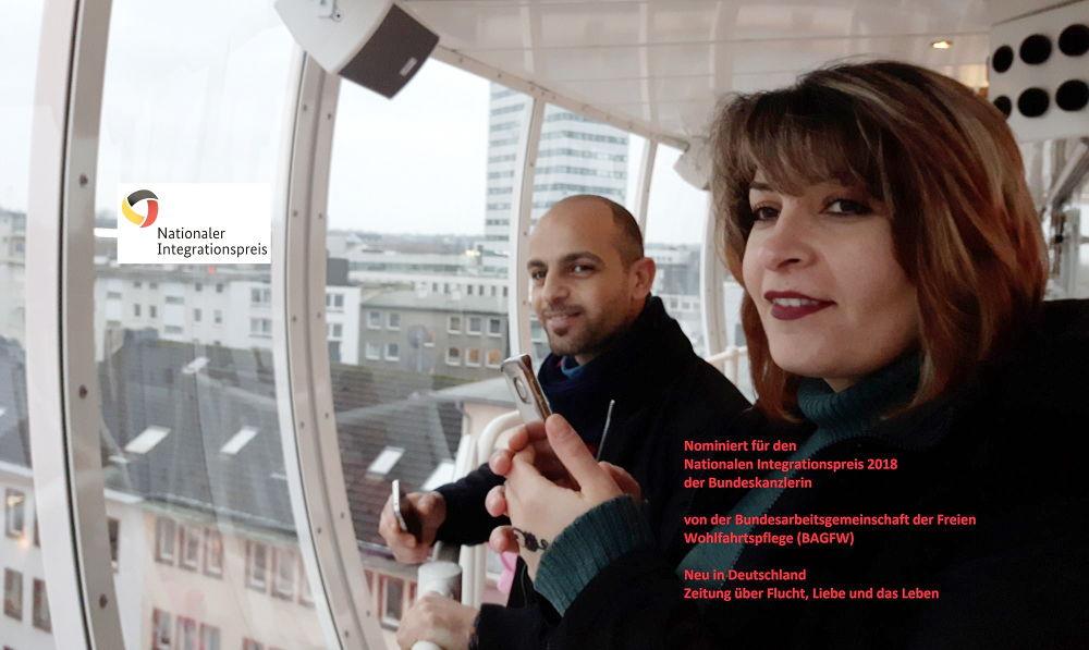 Nominierung für den Nationalen Integrationspreis: Neu in Deutschland, Zeitung über Flucht, Liebe und das Leben