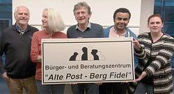 Neue Spitze für die Alte Post: v. l. Peter Weinem (stellvertr. Kassenwart), Birgitt Oeser (Kassenwartin), Wilfried Stein (Vorsitzender), Luciano Janvario De Sales (1. stellvertr. Vorsitzender), Oda Strack-Fühner (2. stellvertr. Vorsitzende)