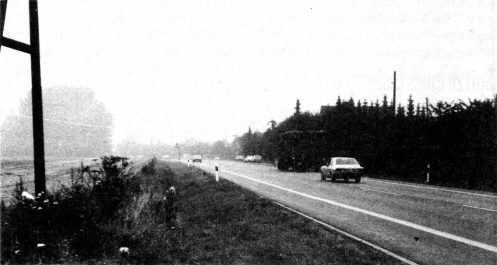 Das Hiltruper Osttor:trotz Geschwindigkeitsbeschränkung eine Rennstrecke (1983)