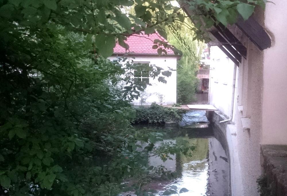 Im Ulmer Fischer- und Gerberviertel (18.7.2018; Foto: Klare)