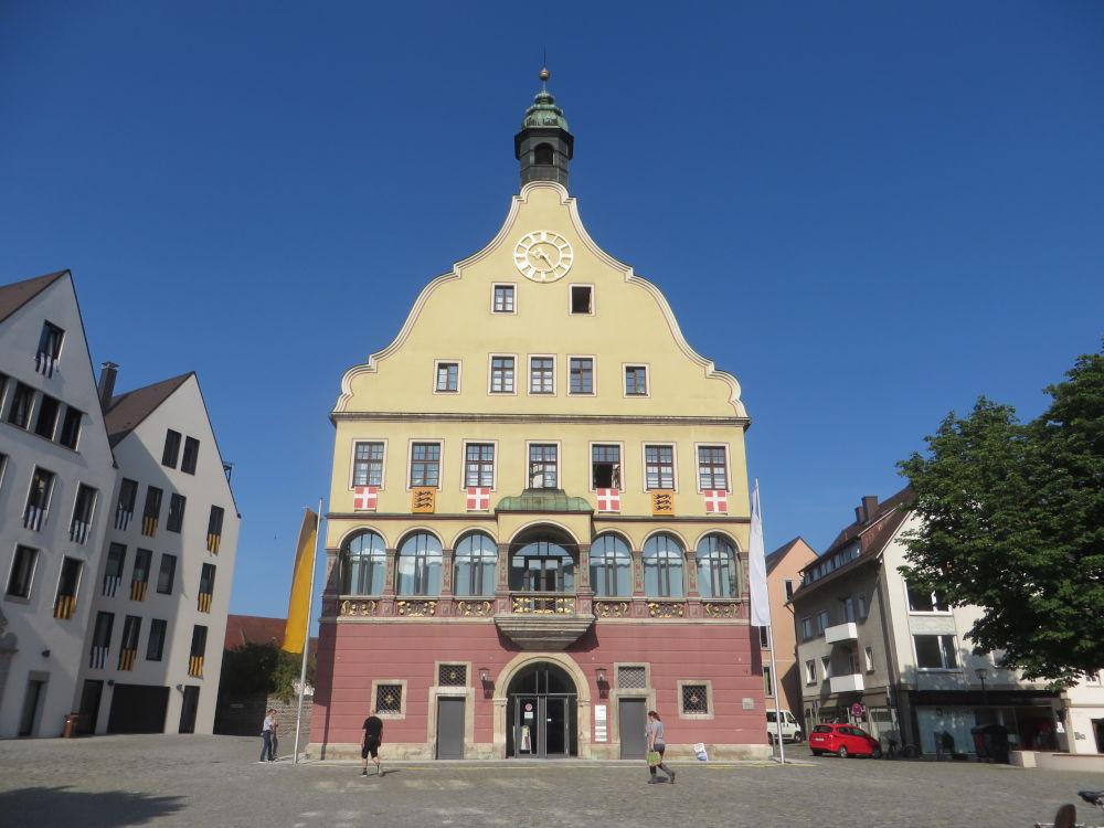 Das Schwörhaus in Ulm (19.7.2018; Foto: Meyerbröker)