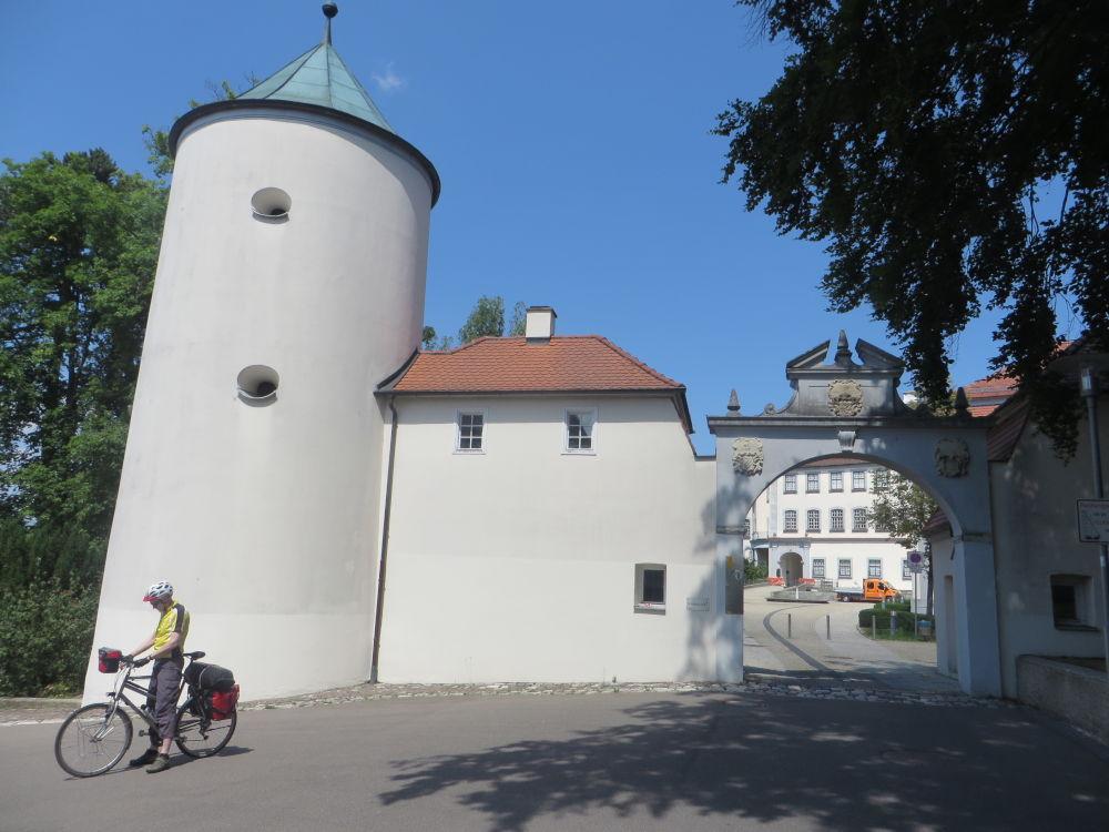 Schloss Großlaupheim (19.7.2018; Foto: Meyerbröker)