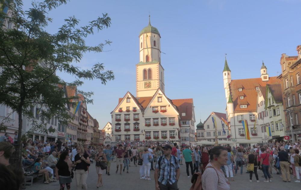 Biberach: Marktplatz (19.7.2018; Foto: Meyerbröker)