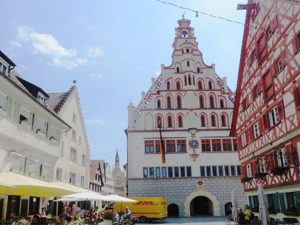 Bad Waldsee: Rathaus (20.7.2018; Foto: Meyerbröker)