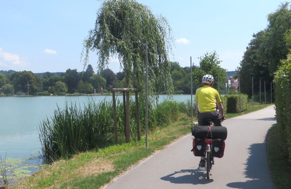 Bad Waldsee: Der Stadtsee (20.7.2018; Foto: Meyerbröker)