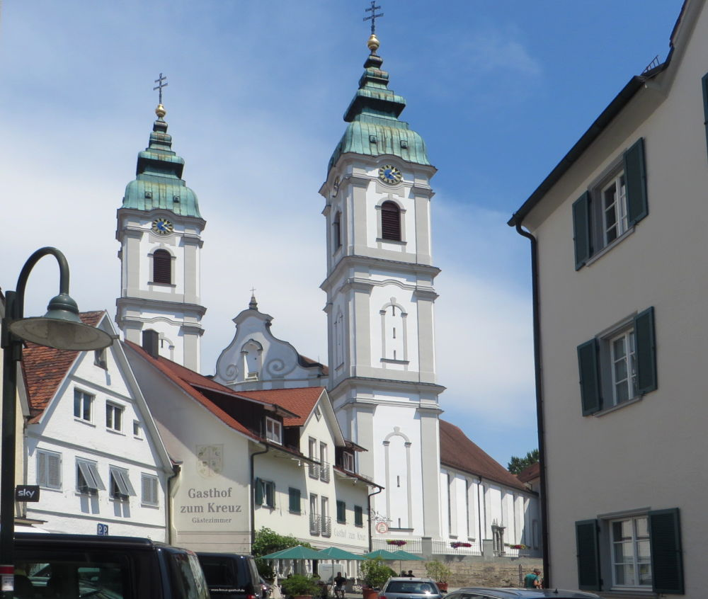 Bad Waldsee: Stiftskirche St. Peter (20.7.2018; Foto: Meyerbröker)