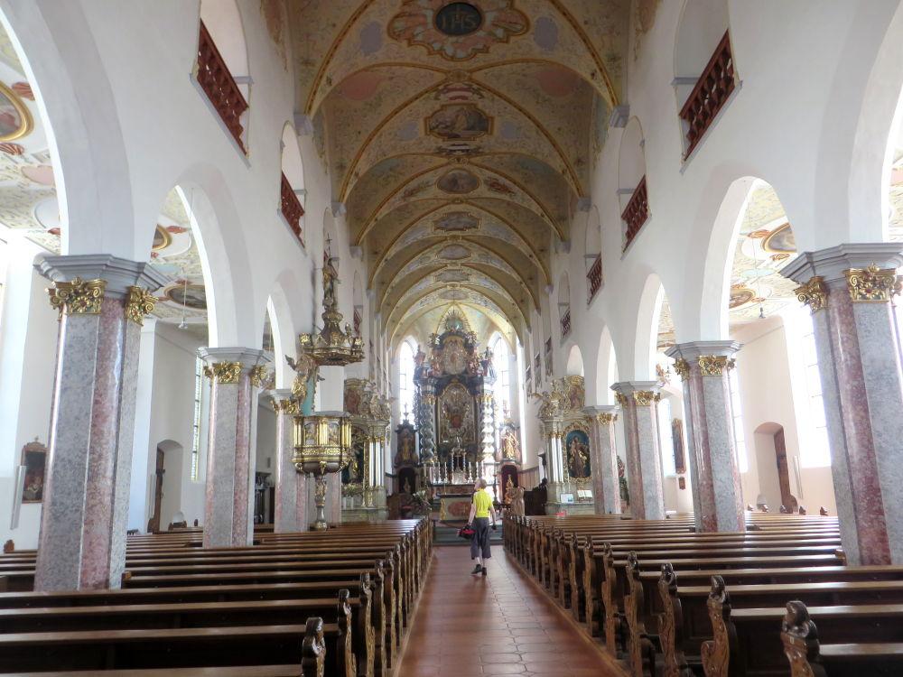 Bad Waldsee: Hochaltar der Stiftskirche St. Peter (20.7.2018; Foto: Meyerbröker)