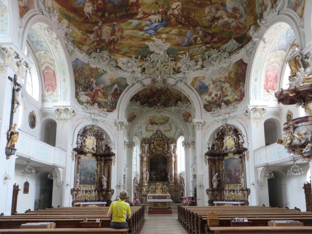 Wolfegg: Schlosskirche (20.7.2018; Foto: Meyerbröker)