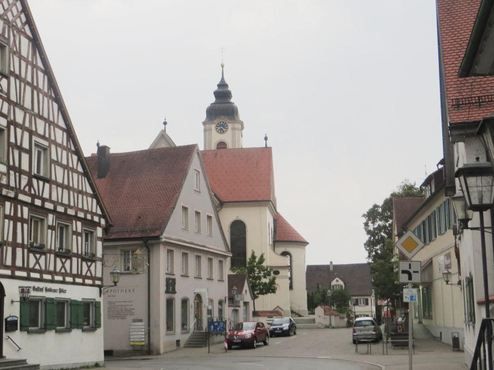 Kißlegg: Hauptstraße (20.7.2018; Foto: Meyerbröker)
