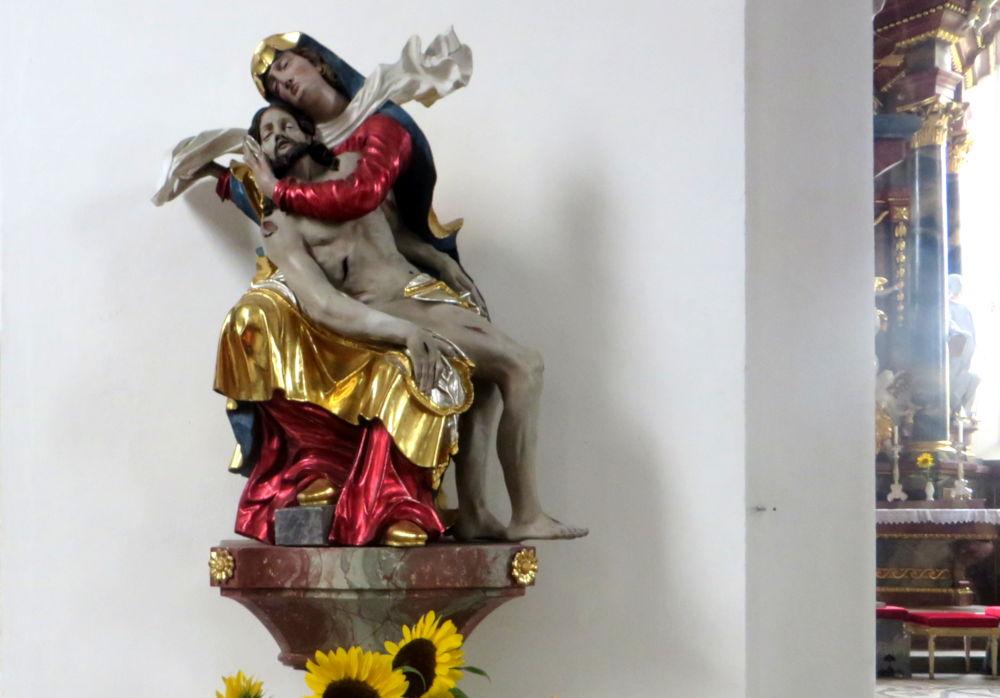 Wasserburg: Pietà in der St. Georg-Kirche (22.7.2018; Foto: Meyerbröker)