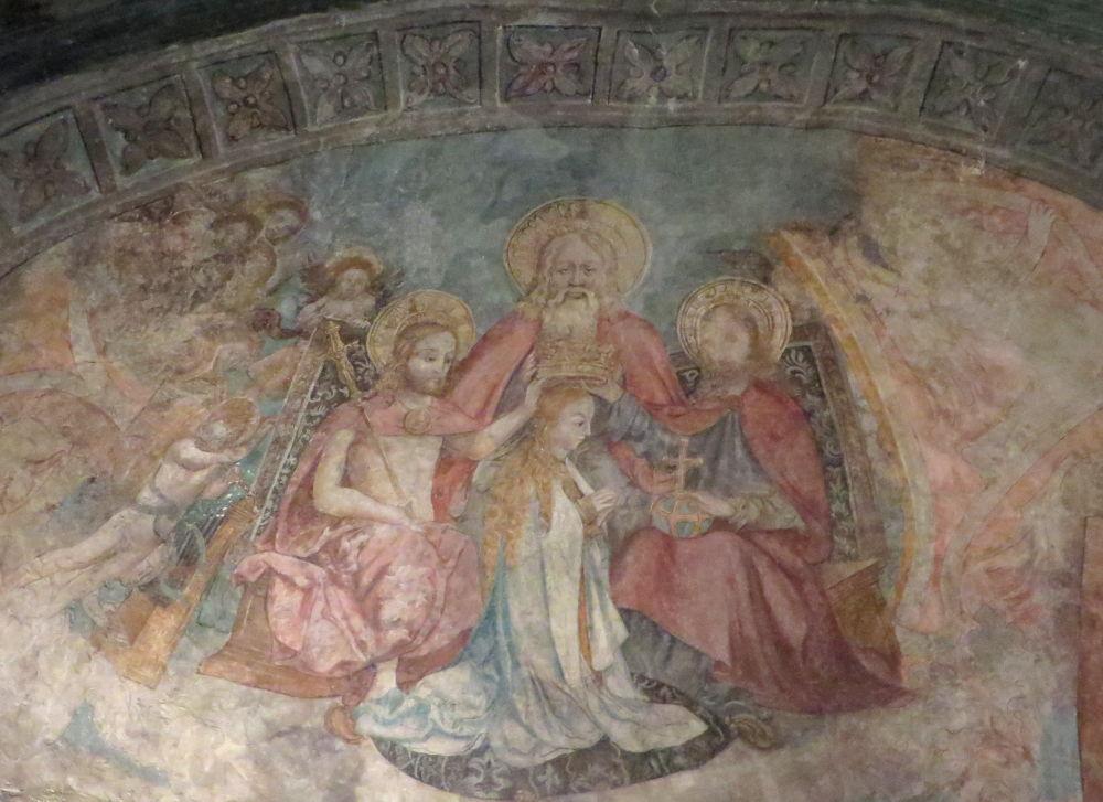 "Lindau: Peterskirche, Fresco ""Marienkrönung"" (22.7.2018; Foto: Meyerbröker)"