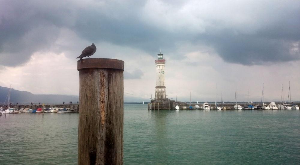 Lindau: Hafen mit Leuchtturm (22.7.2018; Foto: Klare)