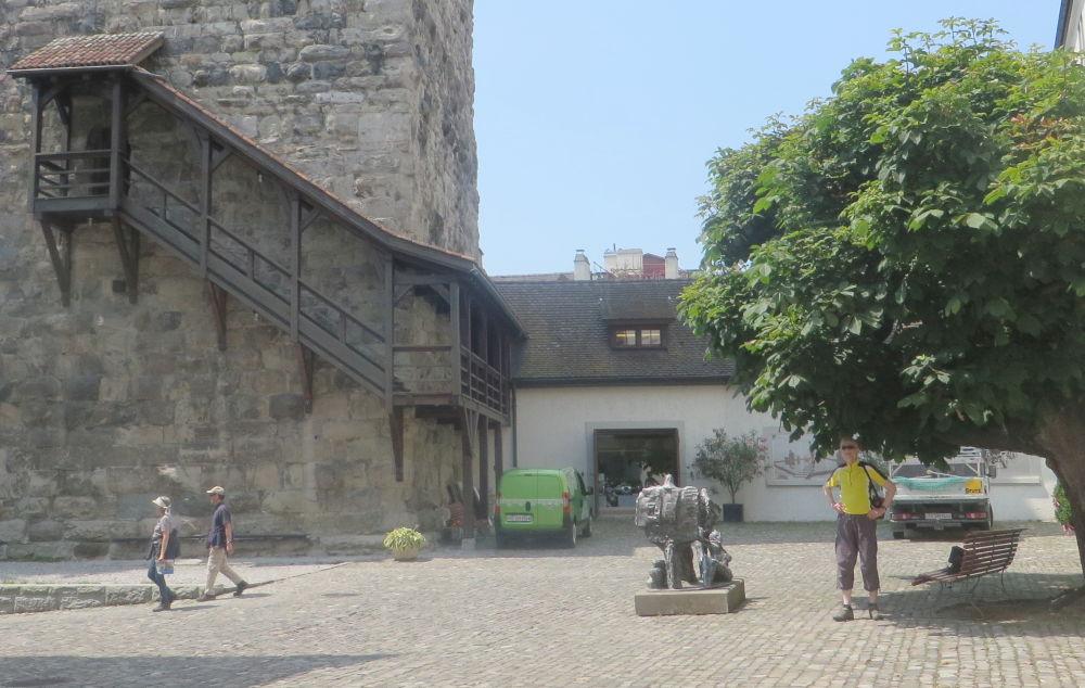 Arbon: Schlosshof (23.7.2018; Foto: Meyerbröker)