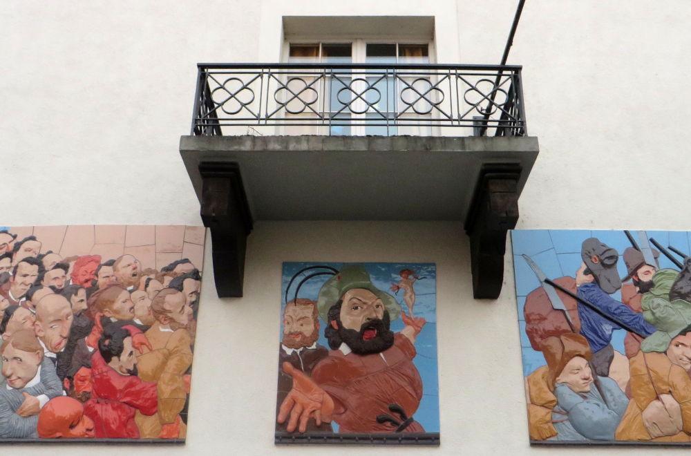 Konstanz: Hecker-Balkon des Stadthauses (23.7.2018; Foto: Meyerbröker)