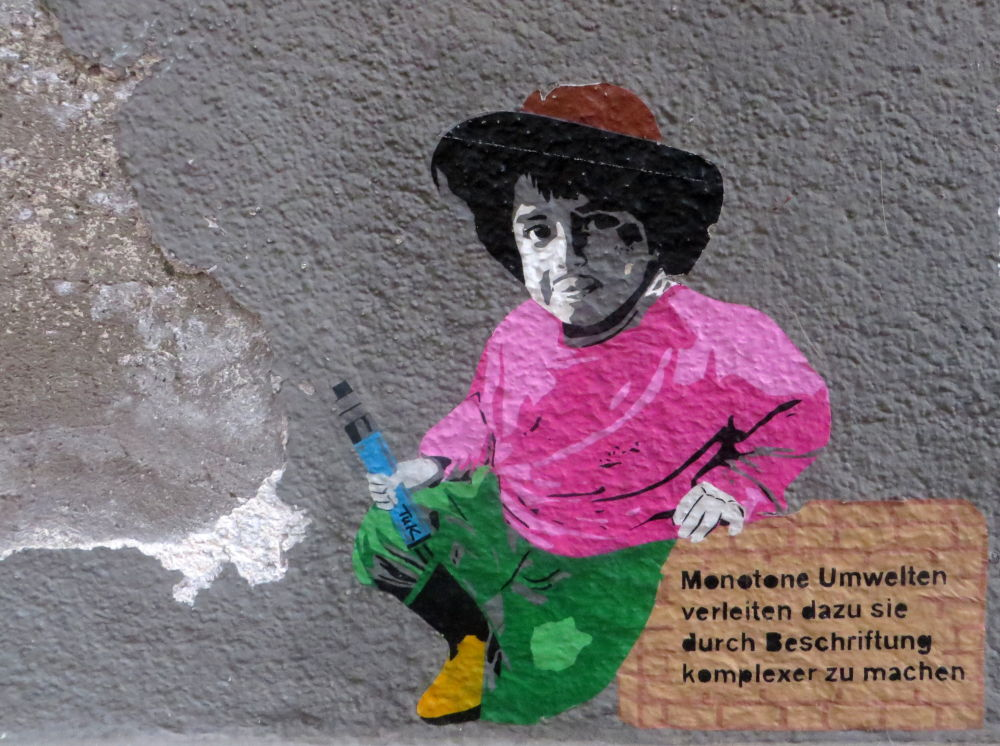 Konstanz: Graffito (23.7.2018; Foto: Meyerbröker)