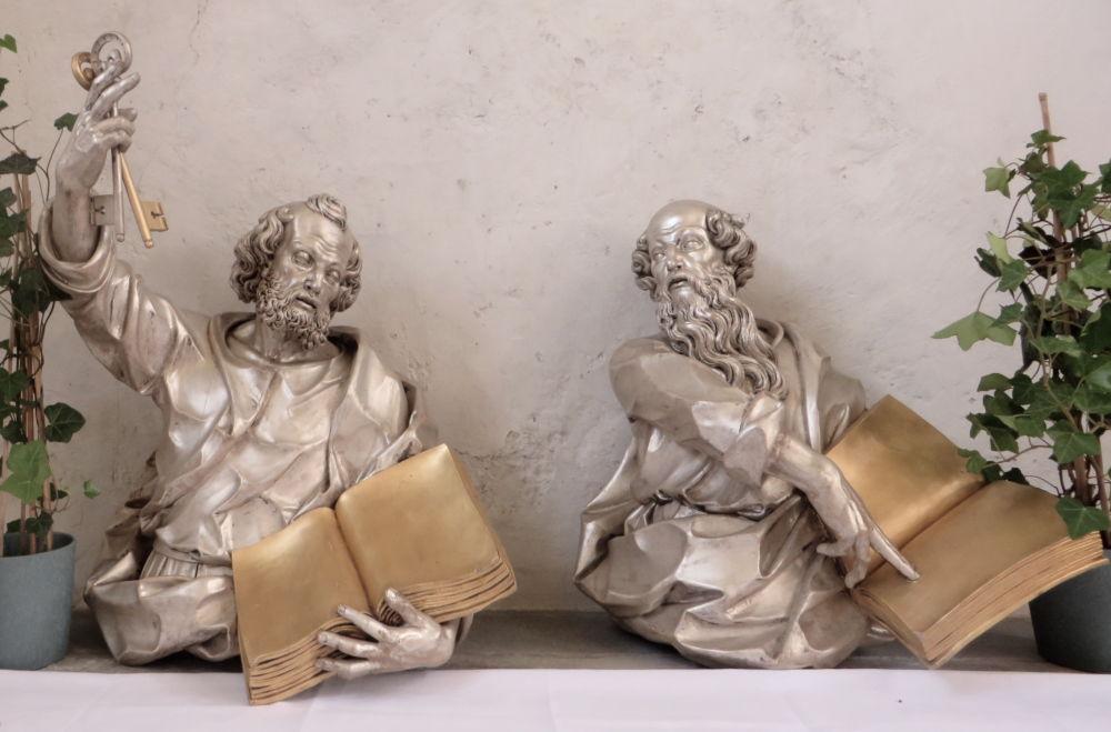 Reichenau: Die Apostel Petrus und Paulus (24.7.2018; Foto: Meyerbröker)