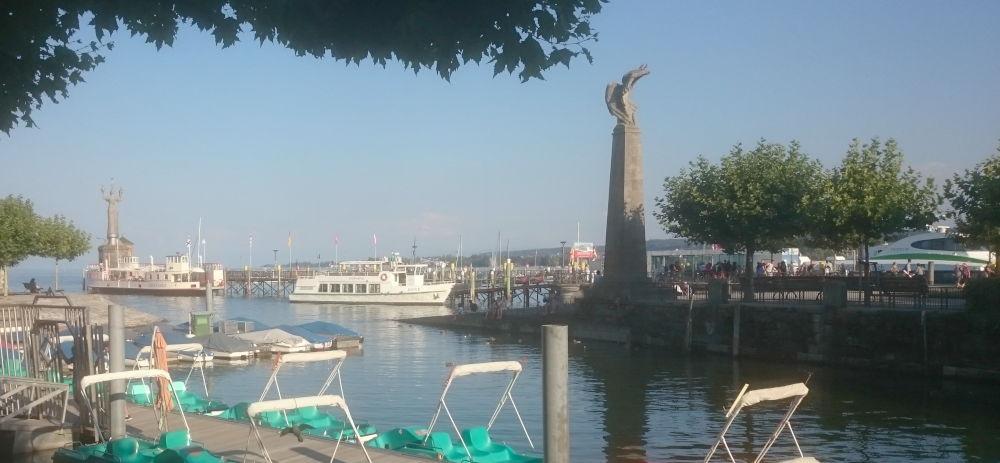 Konstanz: Tretboot-Hafen (24.7.2018; Foto: Klare)