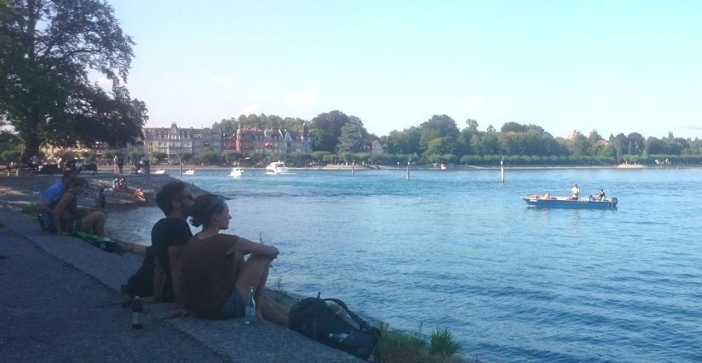 Konstanz: Seepromenade (24.7.2018; Foto: Klare)